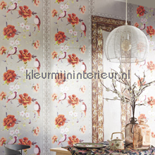 Birds, flowers in layer photomural Eijffinger Muse 331560