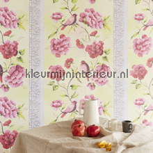 Birds, flowers in layer photomural Eijffinger Muse 331570