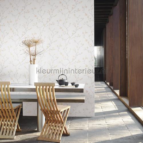 Natsu hanami beige-gris behang NATS82142234 Interieurvoorbeelden behang Casadeco