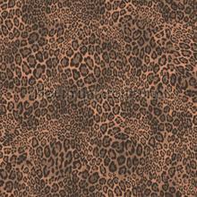 Luipaardprint donkerbruin koper behang Noordwand Modern Abstract