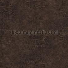 Slangenleer bruin brons behang Noordwand behang