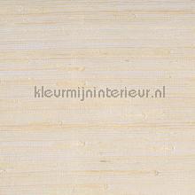 Grasweefsel ecru op wit papier peint Eijffinger Natural Wallcoverings II 389519