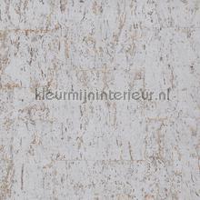 Kurk zilver op lichtbrons papier peint Eijffinger Natural Wallcoverings II 389550