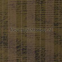 Groenbruin weefsel met strepen tapet Kleurmijninterieur All-images