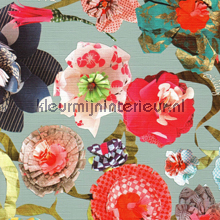 Oilily paper flowers behang AS Creation behang