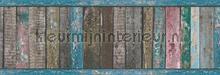 Gekleurd sloophout rand carta da parati AS Creation Wallpaper creations