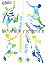 Voetballers in actie stickers interieurstickers Caselio behang