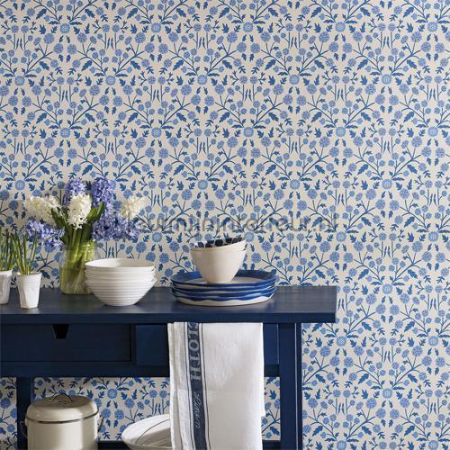 Candytuft powder blue papel de parede 214758 romântico moderno Sanderson