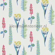 Floral Bazaar blue behang Sanderson Papavera 214773