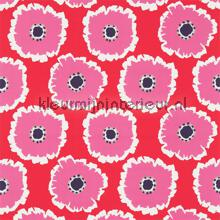 Papavera cerise curtains Sanderson kitchen