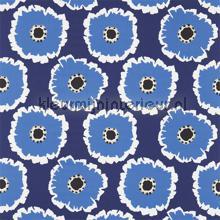 Papavera marine cortinas Sanderson quadrado