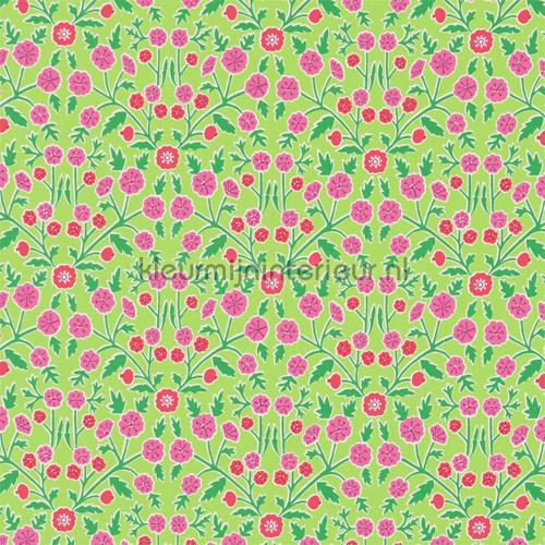 Candytuft green cortinas 224635 romântico Sanderson