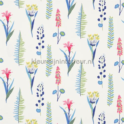 Floral Bazaar blue gordijnen 224640 Keuken Sanderson