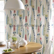 Floral Bazaar blue curtains Sanderson kitchen