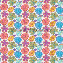 Jewel Leaves brights rideau Sanderson Papavera 224622