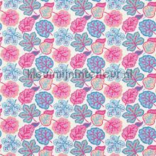 Jewel Leaves raspberry blue rideau Sanderson Papavera 224623