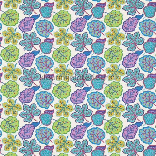 Jewel Leaves teal gordijnen 224624 Keuken Sanderson