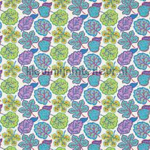 Jewel Leaves teal rideau Sanderson Papavera 224624