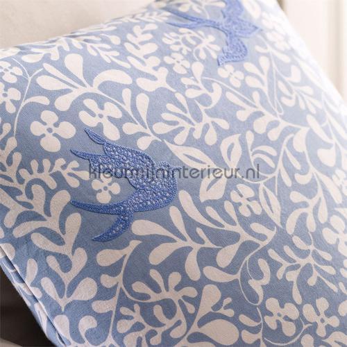 Larksong marine curtains 234653 Butterflies - Birds Sanderson