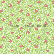 Larksong green curtains Sanderson ready made