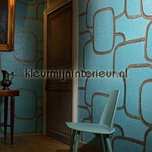 Reflecto aqua blauw wallcovering Elitis Parade VP-841-03