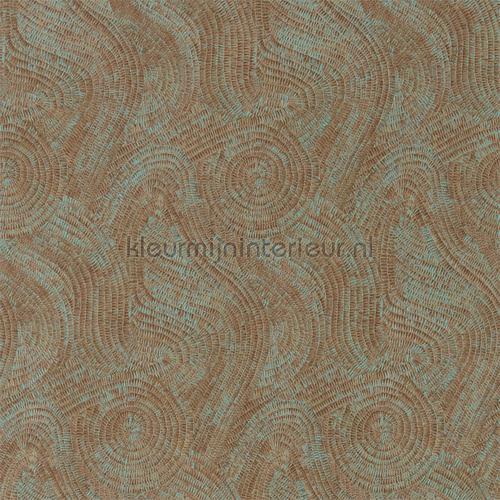 Hawksmoor oxidised copper tapet 312598 Phaedra Wallcoverings Zoffany