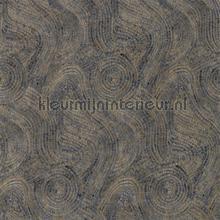 Hawksmoor prussian copper behang Zoffany Phaedra Wallcoverings 312599
