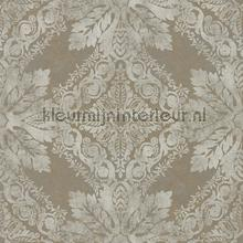 Medevi Mirror antique silver behang Zoffany Phaedra Wallcoverings 312610