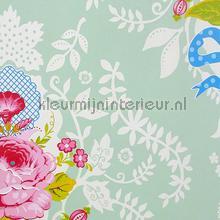 Pip Shabby Chic Mintgroen papier peint Eijffinger PiP Wallpaper II 313004
