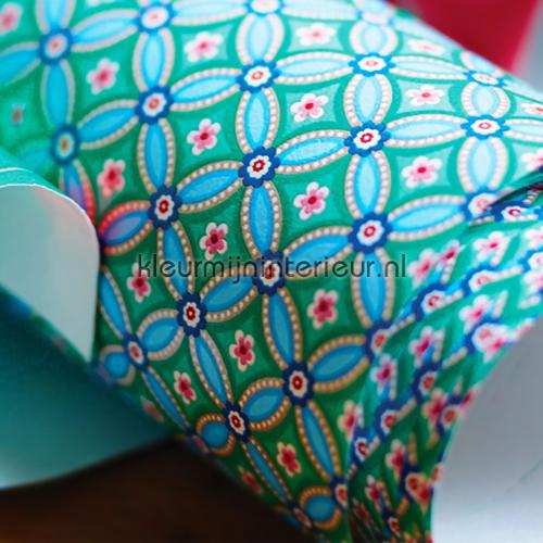 PIP geometric blauw-groen behang fotobehang 341026 PiP Wallpaper III Eijffinger