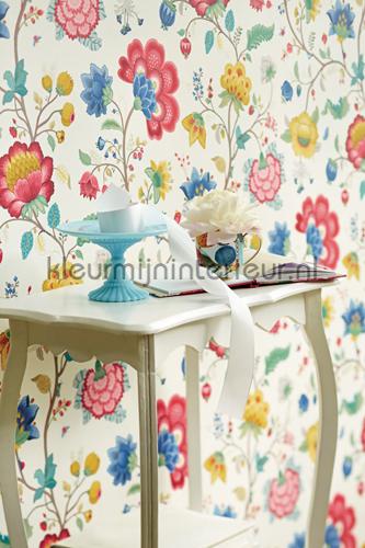 Pip floral fantasy white fotobehang 341030 PiP Wallpaper III Eijffinger