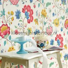 Pip floral fantasy white fotobehang Eijffinger romantisch modern