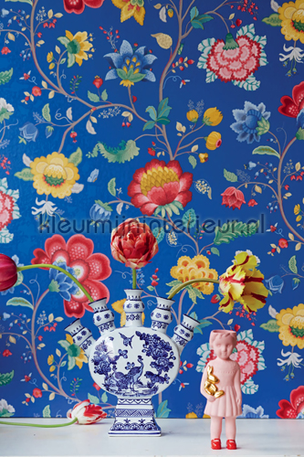 PiP Floral Fantasy Blauw fotobehang 341034 PiP Wallpaper III Eijffinger