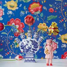 PiP Floral Fantasy Blauw fotomurales Eijffinger PiP studio wallpaper