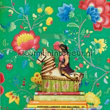PiP Floral Fantasy Groen Behang photomural Eijffinger PiP Wallpaper III 341036