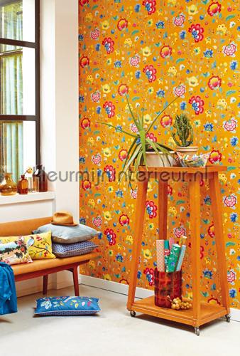 PiP Floral Fantasy Geel fotobehang 341037 PiP Wallpaper III Eijffinger