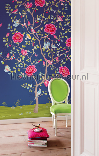 PIP Morning Glory Blauw Behang fotobehang 341093 PiP studio wallpaper Eijffinger