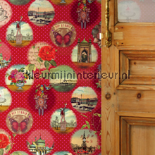 PIP remember Brighton Rood Behang fotomurales Eijffinger PiP studio wallpaper