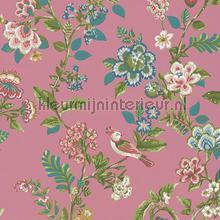 PiP Botanical Print Dark Pink behang Eijffinger Pip Wallpaper IV 375064