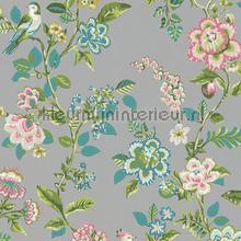 PiP Botanical Print Grey behang Eijffinger Pip Wallpaper IV 375065