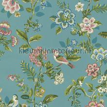 PiP Botanical Print Sea Blue behang Eijffinger Pip Wallpaper IV 375062