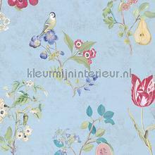Cherry PiP Bright Blue behang Eijffinger Pip Wallpaper IV 375024