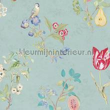 Cherry PiP Light Blue behang Eijffinger Pip Wallpaper IV 375022