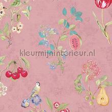 Cherry PiP Pink behang Eijffinger Pip Wallpaper IV 375023