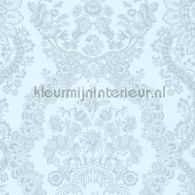 PiP Lacy Dutch Light Blue behang Eijffinger Pip Wallpaper IV 375045