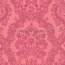 PiP Lacy Dutch Red Pink behang Eijffinger Pip Wallpaper IV 375044
