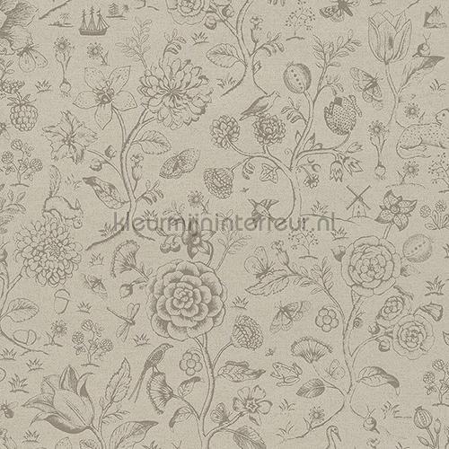 PiP Spring To Life Two Tone Khaki Tapeten 375011 Tapeten Raumbilder  Eijffinger