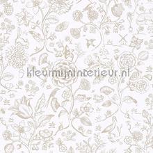 PiP Spring to Life Two Tone Off White behang Eijffinger Pip Wallpaper IV 375010