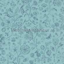 PiP Spring to Life Two Tone Sea Blue behang Eijffinger Pip Wallpaper IV 375012