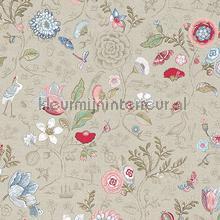 PiP Spring to Life Khaki behang Eijffinger Pip Wallpaper IV 375001